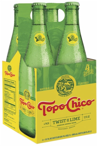 Topo Chico Twist Of Lime Sparkling Mineral Water 4 Ct 12 Fl Oz Mariano S
