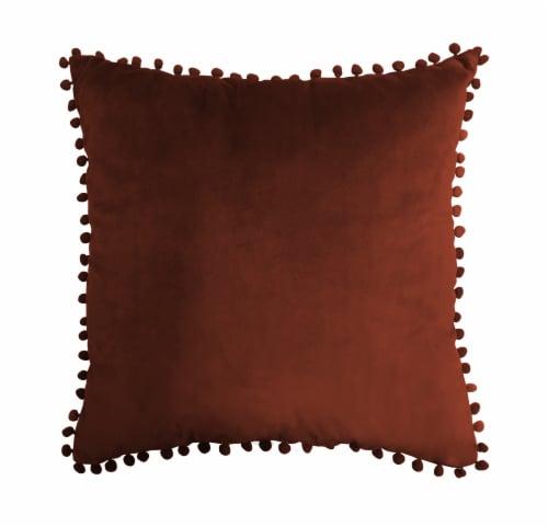 Harper Lane Merlot Pompom Decorative Pillow Perspective: front