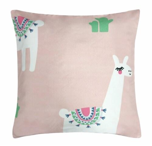 Harper Lane Cool Llama Decorative Pillow Perspective: front