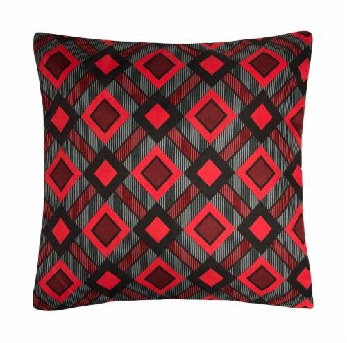 Harper Lane Cottage Plaid Decorative Pillow Perspective: front