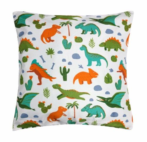 Harper Lane Dinosaur Park Decorative Pillow Perspective: front