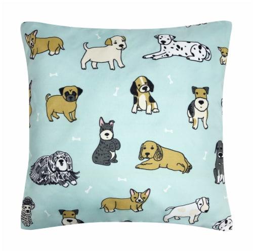 Harper Lane Puppies Decorative Pillow Perspective: front