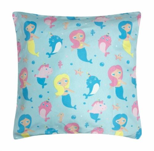 Harper Lane Mermaid & Friends Decorative Pillow Perspective: front