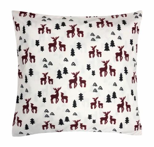 Harper Lane Plaid Deer Decorative Pillow Perspective: front