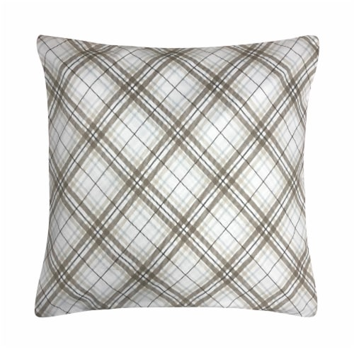 Harper Lane Neutral Plaid Decorative Pillow Perspective: front