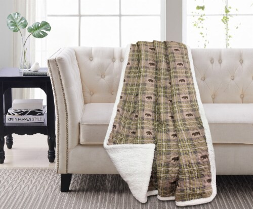 Harper Lane Arbor Reverse To Sherpa Throw Perspective: front