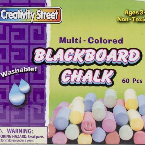 Blackboard Chalk 60/Pkg-Assorted Colors Perspective: front