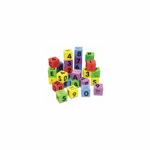 Chenille Kraft 4416 WonderFoam Learning Blocks, Assorted, 30 Blocks Perspective: front