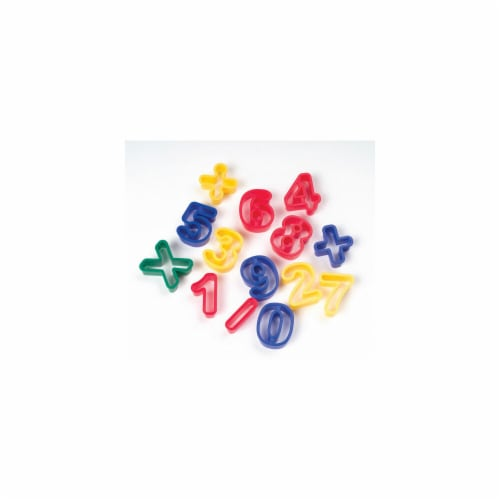 Chenille Kraft Company Cookie/Dough Cutters Numbers Perspective: front