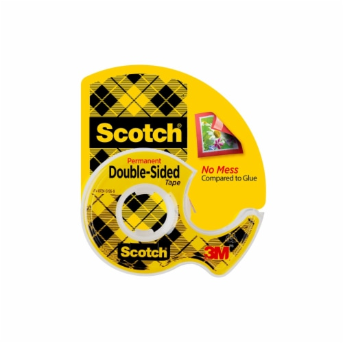 Scotch® Permanent Double Sided Tape - Clear Perspective: front