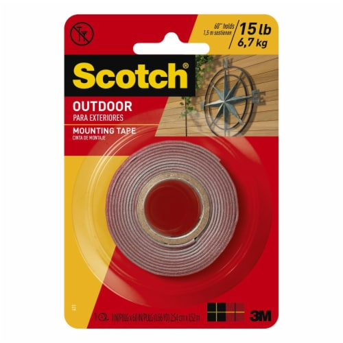Scotch® Outdoor Mounting Tape - Gray Perspective: front