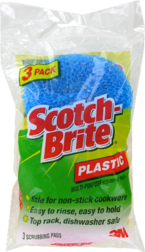 Scotch-Brite™ Plastic Multi-Purpose Scrubbing Pads - Blue Perspective: front