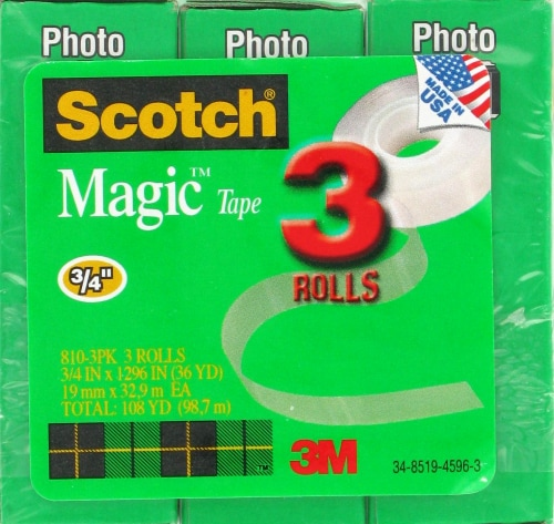 Scotch® Magic™ Tape Refill - 3 Count Perspective: front