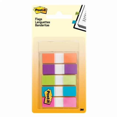 Post-it® Flags - 5 Pack - Assorted Perspective: front