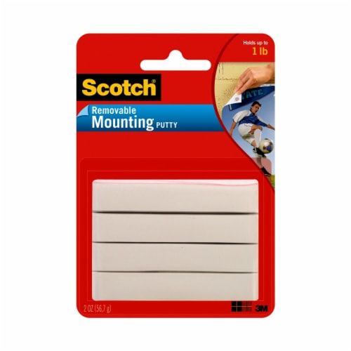 Scotch® Removable Mounting Putty - White Perspective: front