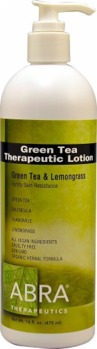 Abra Therapeutics Organic Green Tea Body Lotion Perspective: front