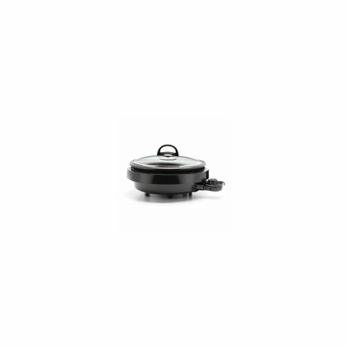 Aroma 3 qt. 3-In-1 Super Pot with Grillet, Large - Black Perspective: front