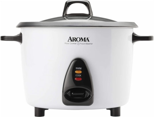 Aroma Electric Rice Cooker with Steam Tray Perspective: front