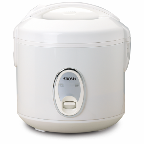 Aroma Cool-Touch Rice Cooker and Food Steamer - White Perspective: front