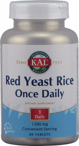 Kal  Red Yeast Rice Once Daily Perspective: front