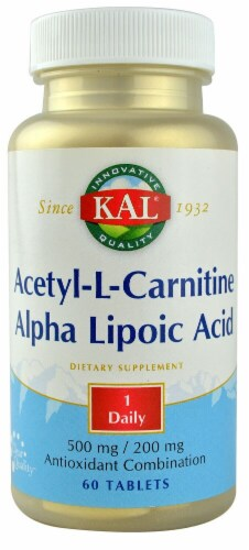 KAL Acetyl-L-Carnitine and Alpha Lipoic Acid Tablets Perspective: front