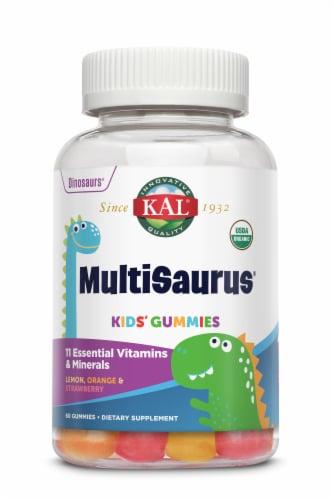 KAL MultiSaurus Assorted Fruit Flavored Kids' Gummies Perspective: front