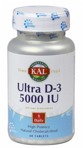 KAL Ultra D-3 Tablets 5000IU Perspective: front
