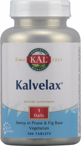 KAL Kalvelax® Herbal Laxative Tablets Perspective: front