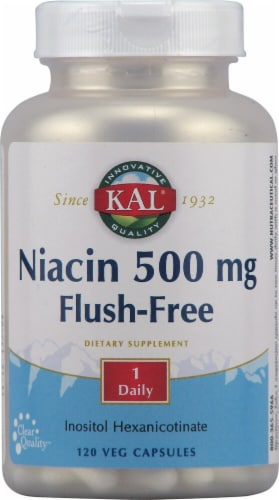 KAL Niacin Flush-Free Capsules 500 mg Perspective: front