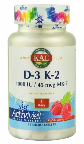 KAL D-3 K-2 ActivMelt™  Red Raspberry Micro Tablets Perspective: front