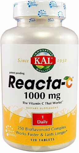 KAL Reacta-C® with Bioflavonoids 1000mg Tablets Perspective: front