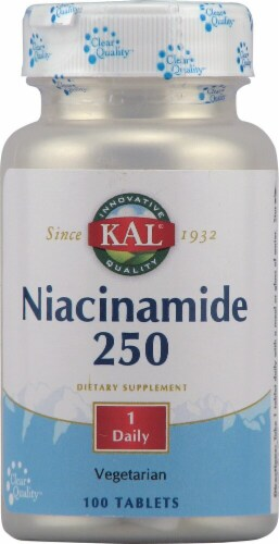 KAL Niacinamide 250mg Tablets Perspective: front