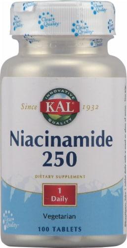 KAL Niacinamide 250mg Tablets Perspective: front
