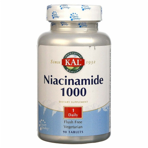 KAL Niacinamide 1000mg Tablets Perspective: front
