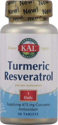 KAL Turmeric Resveratrol Tablets Perspective: front