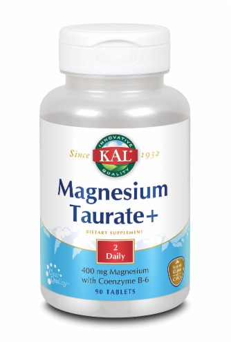 KAL Magnesium Taurate+ 400 Mg Tablets Perspective: front