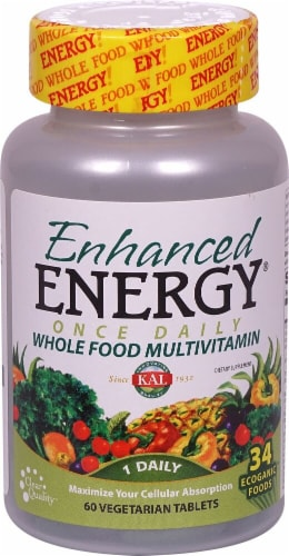 KAL  Enhanced Energy® Wholefood Multivitamin Perspective: front