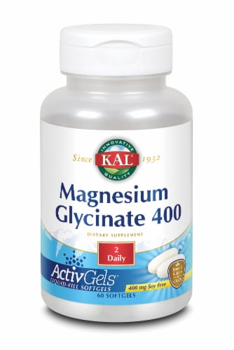 KAL Magnesium Glycinate 400 Mg Softgels Perspective: front