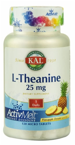KAL L-Theanine Pineapple Dream Micro Tablets Perspective: front