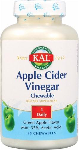 KAL Green Apple Flavor Apple Cider Vinegar Chewables Perspective: front