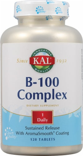 KAL  B-100 Complex Tablets 100 mg Perspective: front