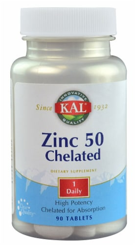 KAL  Zinc 50 Chelated Perspective: front