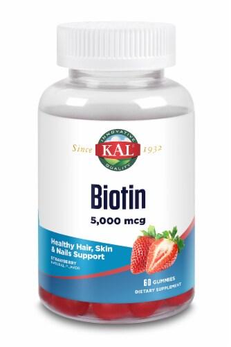KAL Strawberry Biotin Gummies 5000mcg Perspective: front