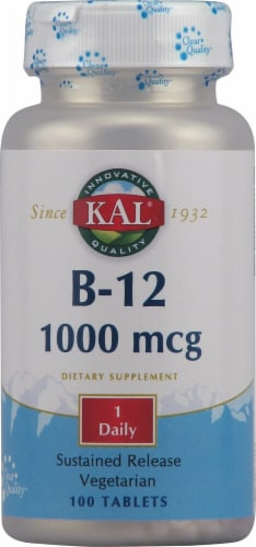 KAL Vitamin B-12 Tablets 1000 mcg Perspective: front