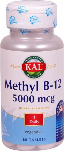 KAL Methyl B-12 Tablets 5000mcg Perspective: front