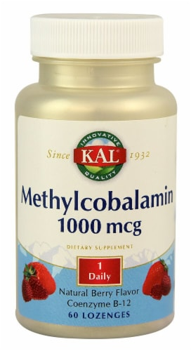 KAL Methylcobalamin Berry Lozenges Perspective: front