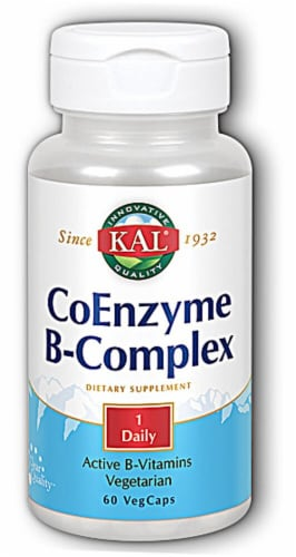 KAL  Coenzyme B-Complex Tablets Perspective: front