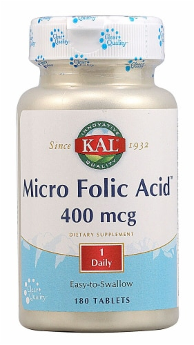 KAL Micro Folic Acid™ Tablets Perspective: front
