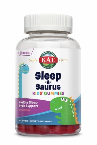 KAL Sleep-a-Saurus Strawberry Kids' Gummies Perspective: front