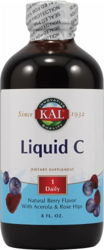 KAL  Liquid C Dietary Supplement   Natural Berry Perspective: front